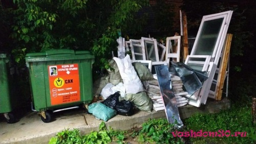 Вывоз мусора контейнеромфото1363