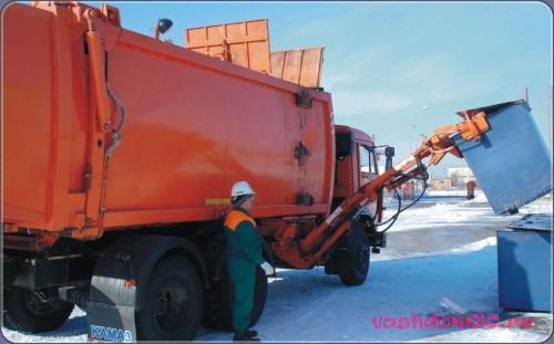Вывоз мусора контейнером 27 м3 в москвефото824