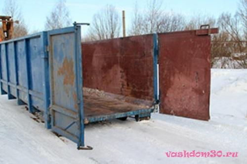Вывоз мусора контейнером 8 м3 в москвефото1384