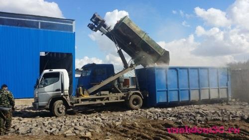 Вывоз мусора контейнер 8 м3 сзаофото1376