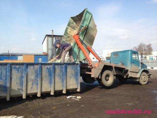 Вывоз мусора контейнер 8 м3 мытищифото775