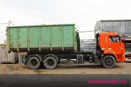 Вывоз строительного мусора контейнер 8 м3 бронницыфото677