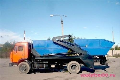 Вывоз мусора контейнер 8 м3 центр москвафото147