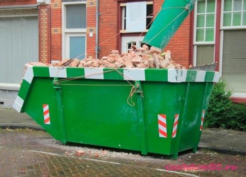 Вывоз мусора контейнер 27 м3 электростальфото1062