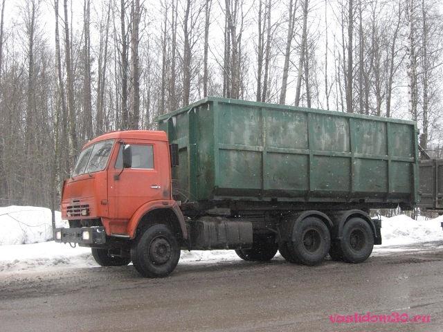 Вывоз мусора большой контейнерфото565