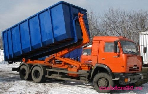 Вывоз строительного мусора контейнер 8 м3 видноефото1577