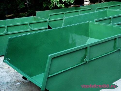 Вес 8 кубового контейнерафото1396